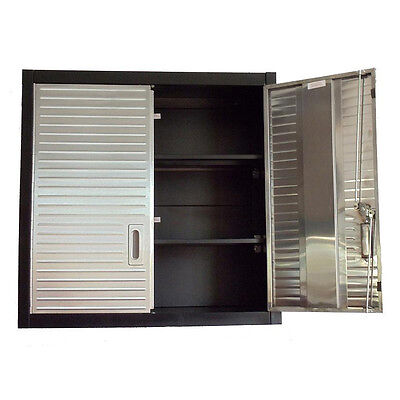Garage 2 Door Wall Cabinet by Seville Cupboard Office Shed Lockable Storage