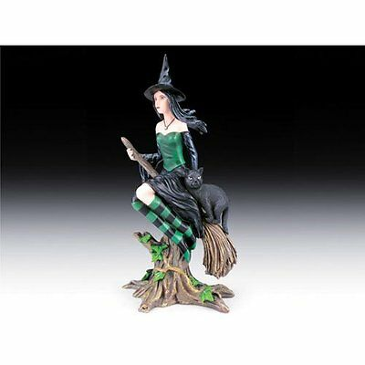 Flying Witch with Cat Figurine - NEW