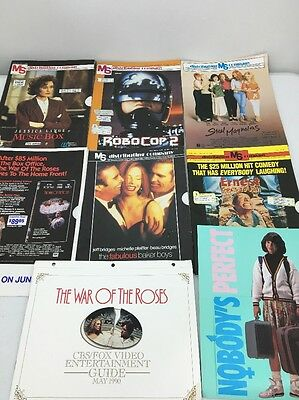 Lot Of Movie Release Catalogs Vintage 1990 VHS Distributing Advertisement Rare