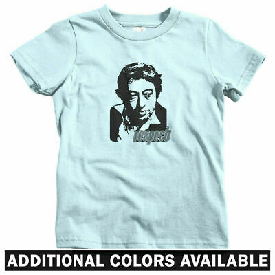 Respect Kids T-shirt - Baby Toddler Youth Tee - Serge Gainsbourg French Musician