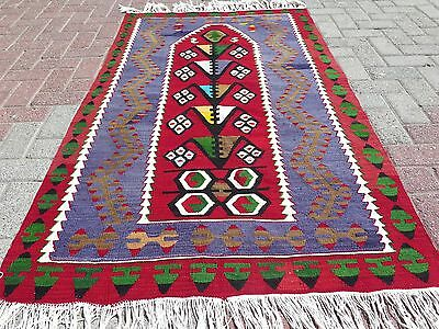"Anatolian Turkish Antalya Nomads Kilim 39,7"" x 68,1"" Area Rug Kelim Carpet Rugs"