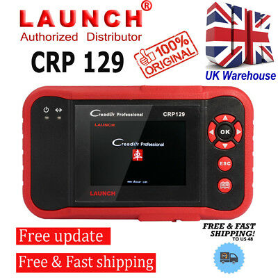 LAUNCH X431 CRP129 Car Diagnostic OBD2 ENG/AT/ABS/SRS EPB SAS Scan Tool UK Stock