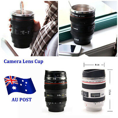 Camera Lens Stainless Steel Cup 24-105 Coffee Tea Travel Mug Thermos Lens Lid BO