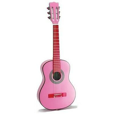Bontempi Classic Pink Wooden Guitar (75 cm). Shipping Included