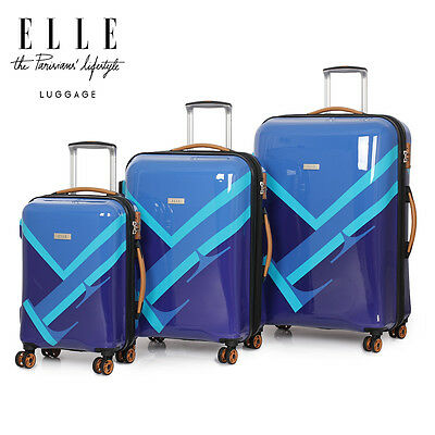 IT Luggage World's Lightest Trolley Case 3 Suitcase Set Carry On Bag Lightweight