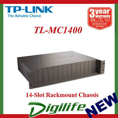 "TP-Link MC1400 19"" 2U Rackmount Chassis for 14-Slot media converters"
