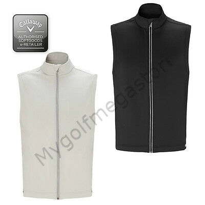 Callaway Golf Stretch Thermal Sleeveless Vest Jacket Mens M/L/XL Black or Silver