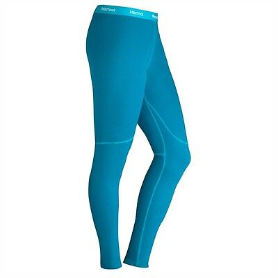 Marmot Womens ThermalClime Sport Base Layer Tights Leggings Blue SMALL *RRP £32*