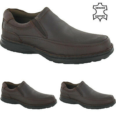Mens New Genuine Leather Slip On Casual Moccasin Shoes Size