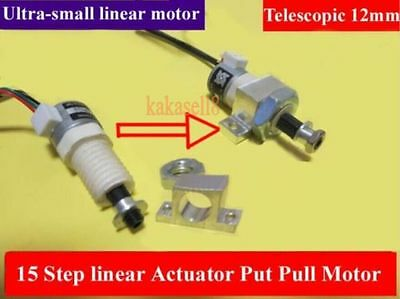 Mini linear Actuator 15mm Stepper Put Pull Motor Electric Putter Stretch 12mm
