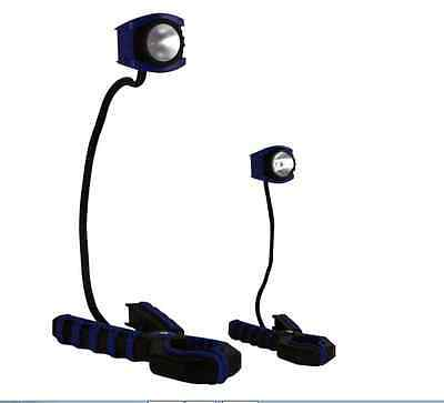 New Durable Flexible Dorcy International LED Clamp Work Light Combo Pack In Blue