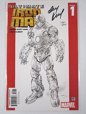 Ultimate Iron Man #1 Auto Autographed By Andy Kubert Limited #156/204 Scott Card