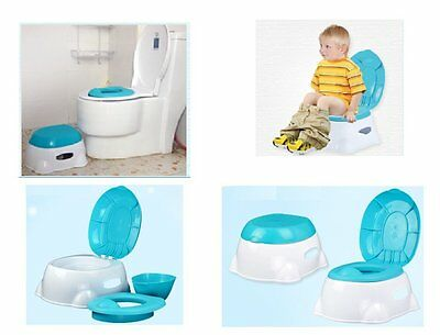 Baby Kids Child Toddler Potty Training Toilet Commode 3 in 1 Potty Training Seat