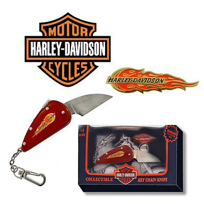 Harley Davidson Black Collectible Flame Knife/key Chain New