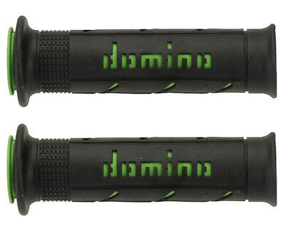 Domino Manopole Racing Xm2 Forate Super Soft Nero-Verde Kawasaki Z 750/800/1000
