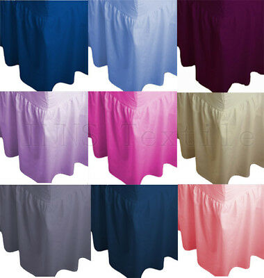 Plain Dyed Fitted Valance sheet Poly-Cotton Bed Sheet Single,Double,King,S.king