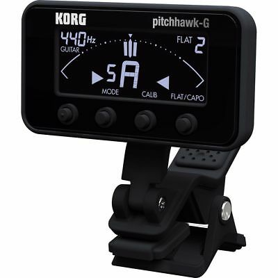 New Korg PitchHawk AW-3G-BK Guitar/Bass Clip-On Tuner, Black + Free Shipping