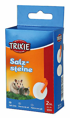 Pack of 2 Salt Lick for Small Animals Gerbils Mice Hamsters Rats Guinea Pigs