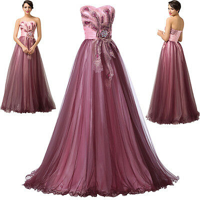 Formal Wedding Prom Ball Cocktail Dress Evening Party Gown Long Bridesmaid Dress