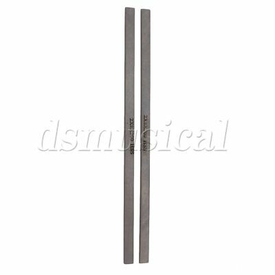 2 Pieces Silver Milling Cutter Lathe High Speed Steel HSS Tool Bits 200x8x2mm