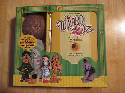 New THE WIZARD OF OZ CROCHET 12 Characters Pattern Book, Needle,Yarn Kit by Rask