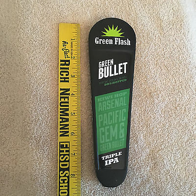 Green Flash Brewery Bullet Triple IPA Beer Tap Handle: Keg Knob: Free Shipping