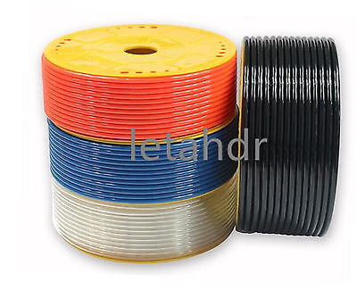 PU Pneumatic Tube Pipe Hose Tubing Different Size And Color 5m 10m 25m long