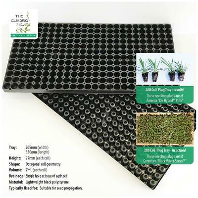 288-cell Black SEEDLING PLUG TRAY pack. Bulk propagation of plants, from seed.