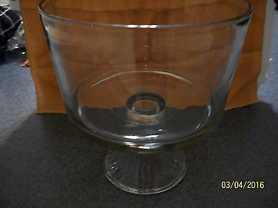 High Sided Clear Glass Compote/Fruit Pedestal Bowl