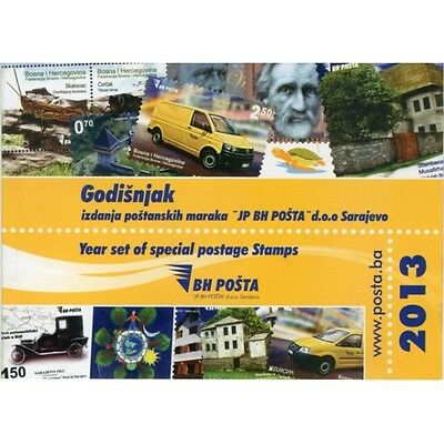 Year set of special postage stamps issued in 2013th
