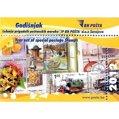 Year set of special postage stamps issued in 2012th