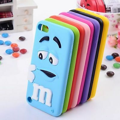 Colour m&m Silicone Rubber Case Cover Skin For iPod Touch 5 Gen
