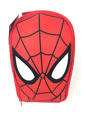 Official Marvel Spiderman Face Eva 3D Boys Nursery School Lunch Insulated Bag