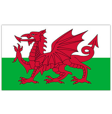 Welsh Flag Dragon Wales Large 5X3Ft New Packed Eyelets Fast Delivery