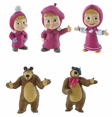 Comansi Masha & The Bear Toy Figures Great For Cake Decorating Toppers Official