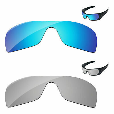 Silver Chrome & Ice Blue Polarized Replacement Lenses For-Oakley Batwolf