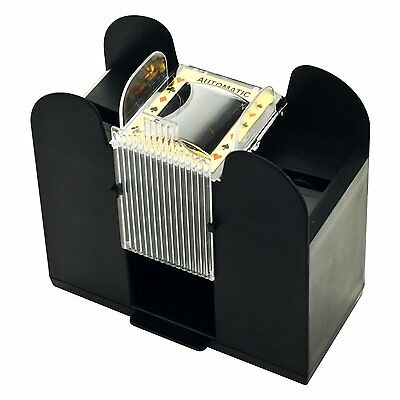 Electronic Automatic Card Shuffler Battery Operate Casino Poker Game Play 6 Deck