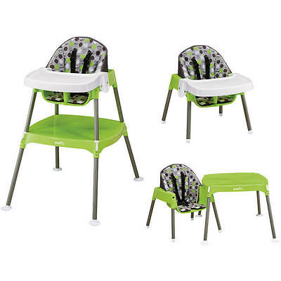 Baby High Chair Table Convertible Seat Booster Toddler Feeding Evenflo 3 in 1