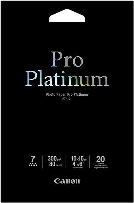 Canon PT-101 (10x15cm/4 x 6 inch) 300g/m2 Pro Platinum Photo Paper (20 Sheets)