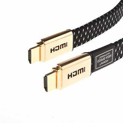 1M-15M FLAT ULTRA HD 4K 3D HDMI CABLE v2.0 HIGH SPEED + ETHERNET HDTV 2160p