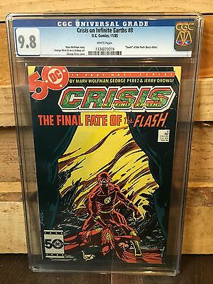 Crisis On Infinite Earths #8 Cgc 9.8 Nm/mt Death Of The Flash  (Id 6801)