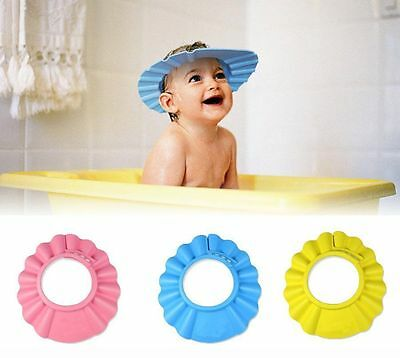 Baby Kids Children Shampoo Bath Shower Cap Hat Wash Hair Shield Soft