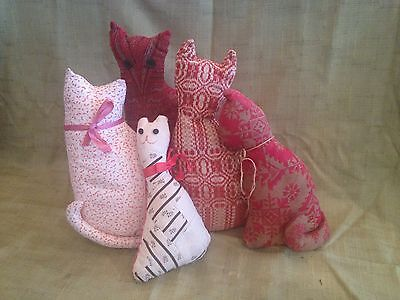 Collectible Primitive/ Vintage Country Stuffed Cats