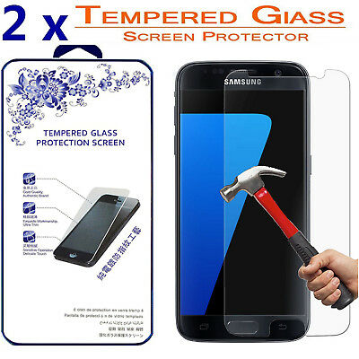2x For Samsung Galaxy S7 [ Tempered Glass ] Screen Protector