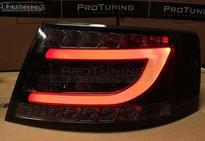 Audi A6 4F C6 04-08 LED Smoked Taillights tail light Rear BACK Lamp s6 Limo rauh