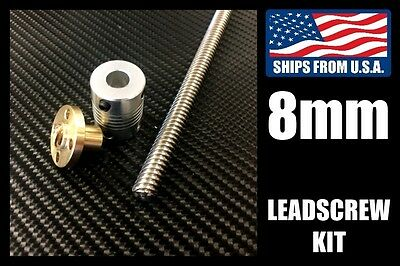8mm Leadscrew Kits - Short 200mm/300mm/400mm/500mm Lengths THSL8 for 3D Printers