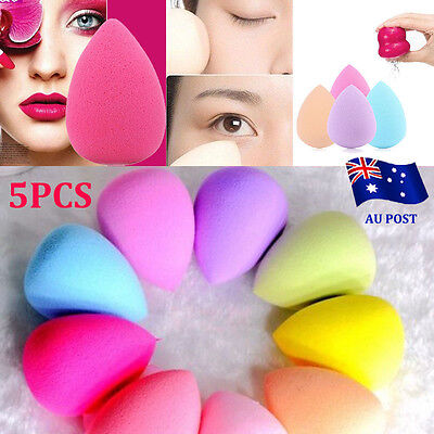 5x Makeup Foundation Sponge Blender Puff Flawless Powder Smooth Beauty mini BO