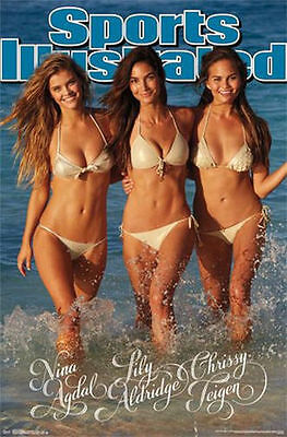 Sports Illustrated Swimsuit Trio Poster Nina Agdal Lily Aldridge Chrissy Teigen