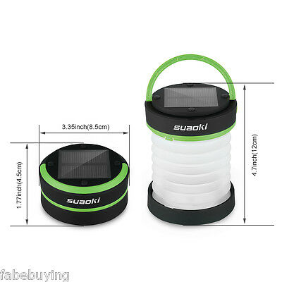 Rechargeable Outdoor Lantern Solar Powered LED Lamp Hiking Camping Light Lamp AU