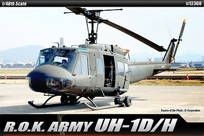 Academy 12308 R.O.K. Army UH-1D/H 1/48 Helicopter Plastic Model Kit Kits
